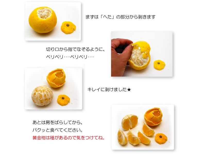 黄金柑の食べ方