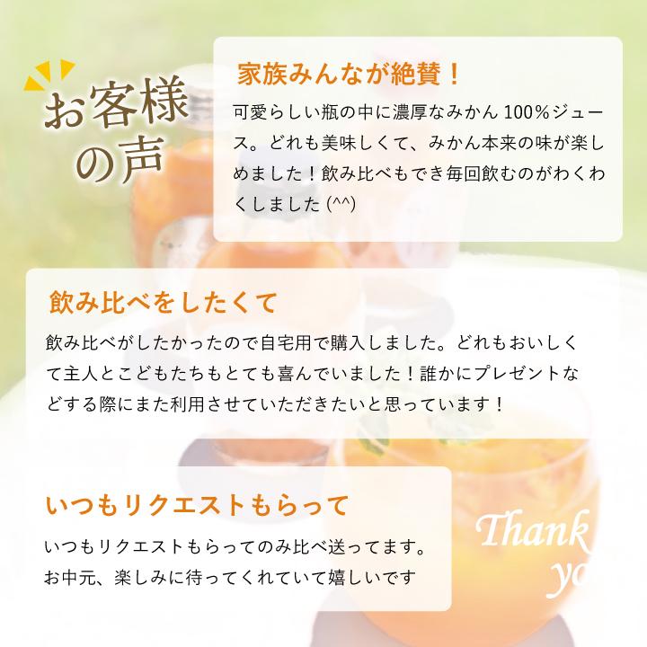 お中元におすすめの和歌山県産みかんジュースです。